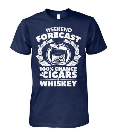 Weekend Forecast - Cigars Lovers Club - Cigar Apparels, Shirts, Mugs, Posters...