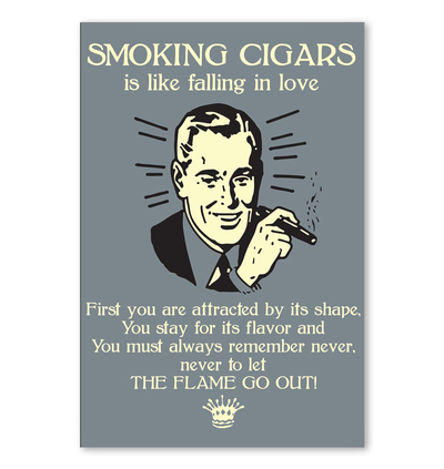 Smoking Cigars is like faliing in love - Cigars Lovers Club - Cigar Apparels, Shirts, Mugs, Posters...