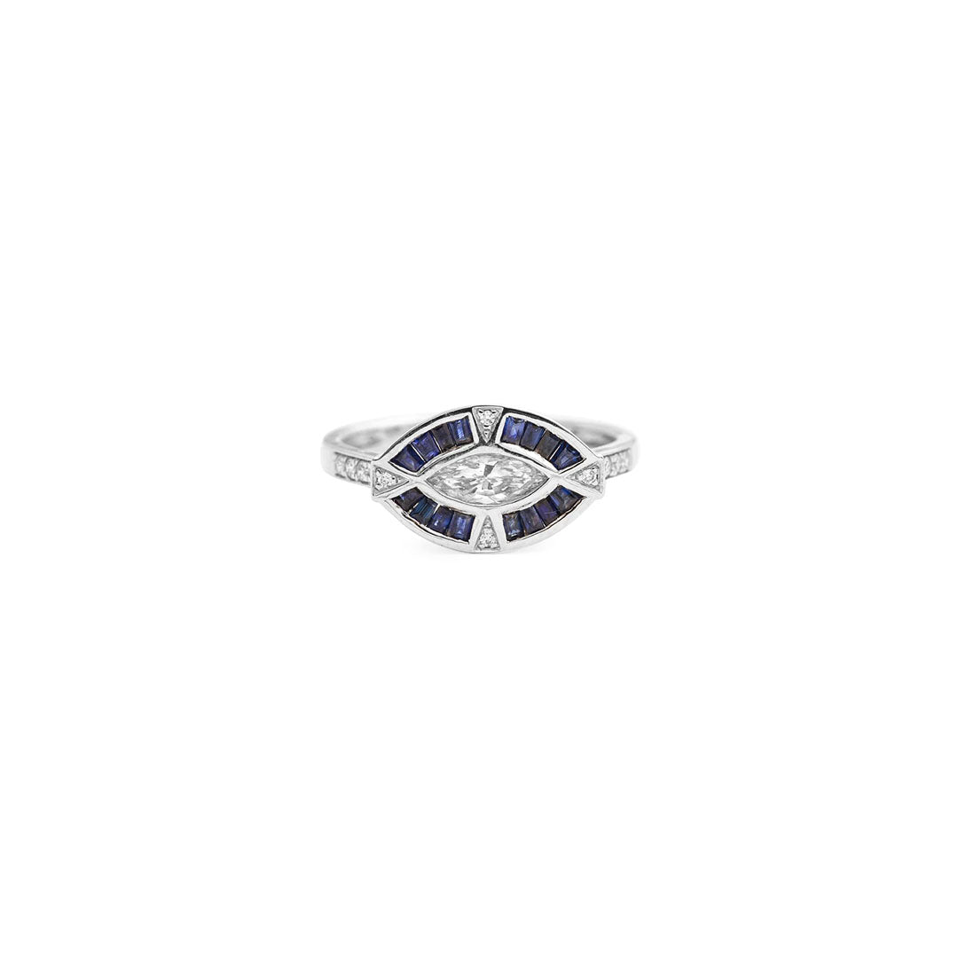 Marquis Art Deco Diamond Ring