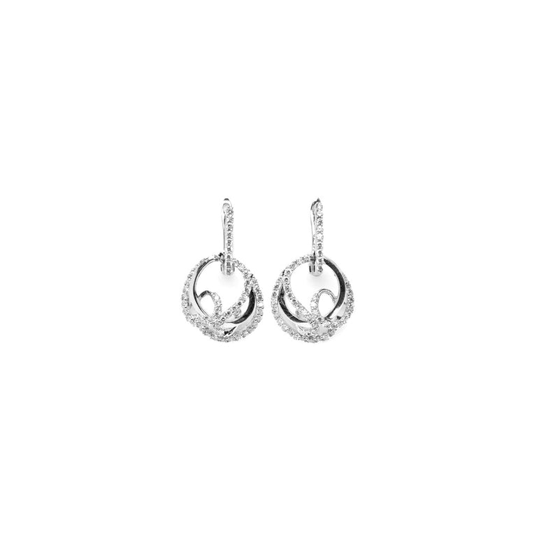 Twisted Diamond Gyre Earrings