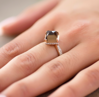 Rhombus Smoky Quartz Ring