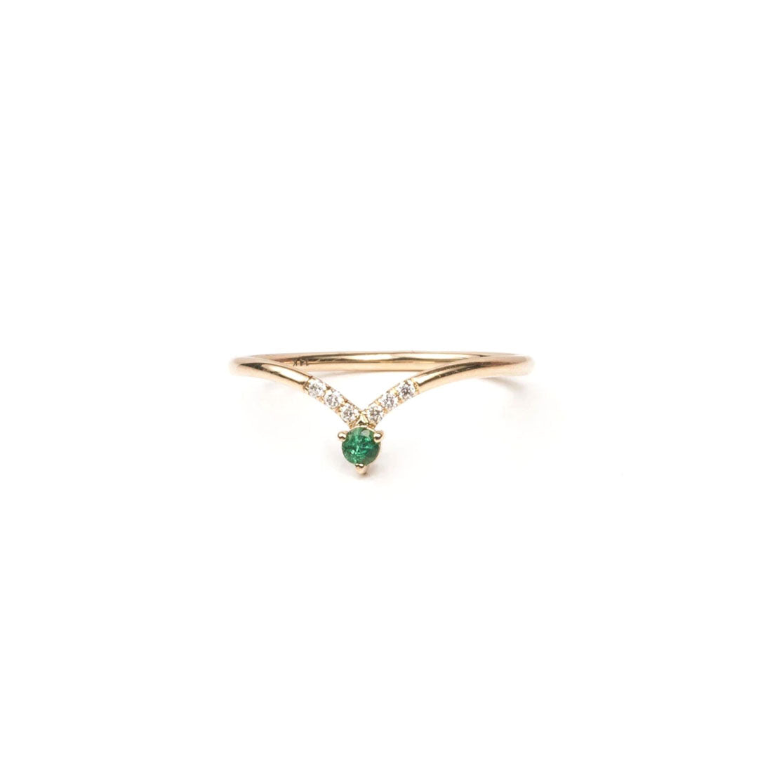 Angeles Crest Emerald Ring