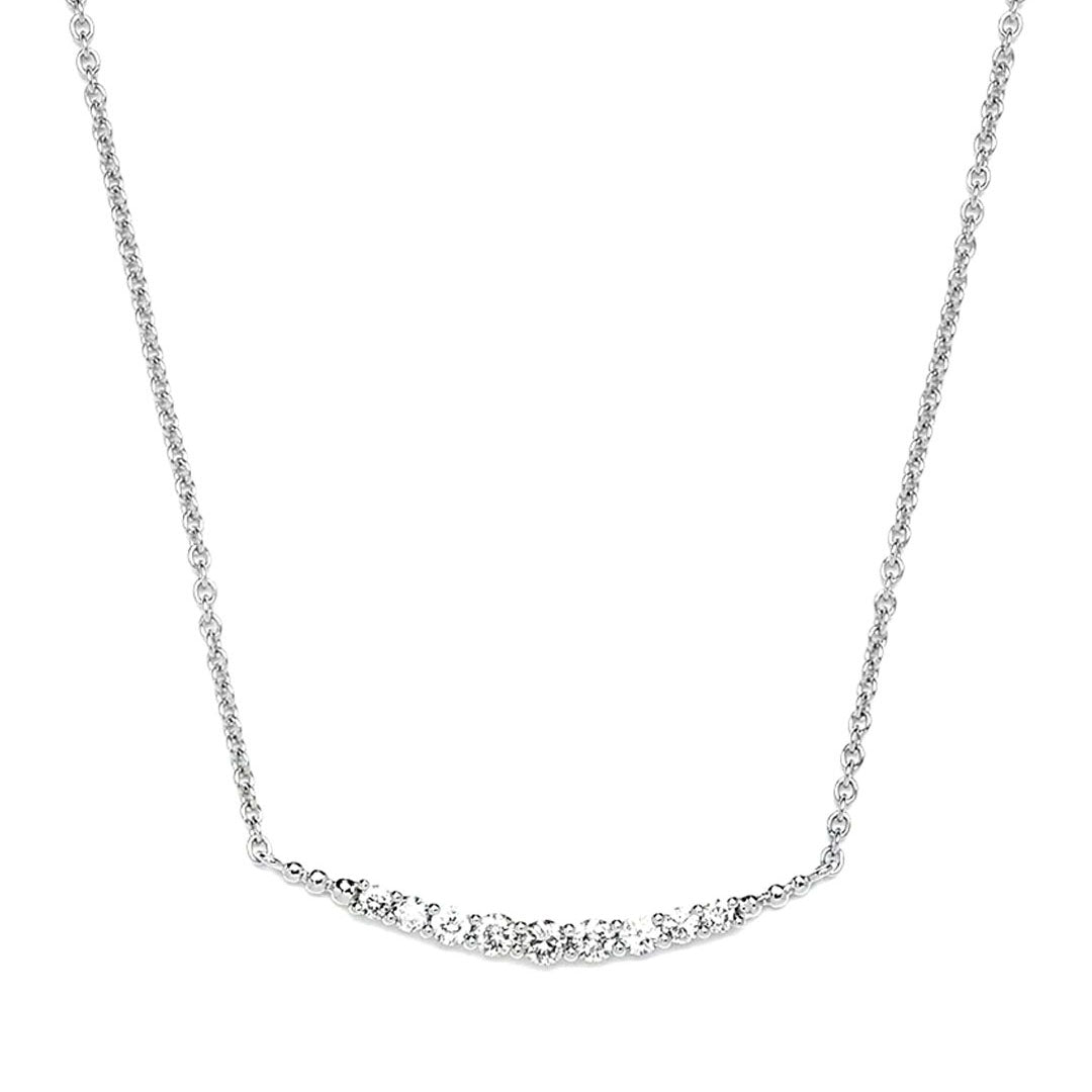 Christie Curved Diamond Necklace