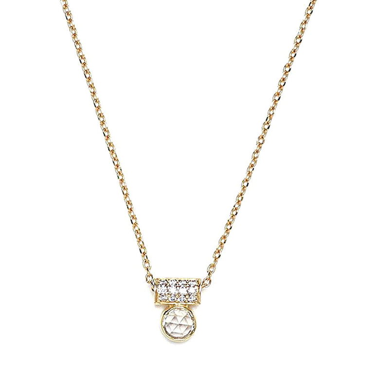 White Sapphire Tube Necklace