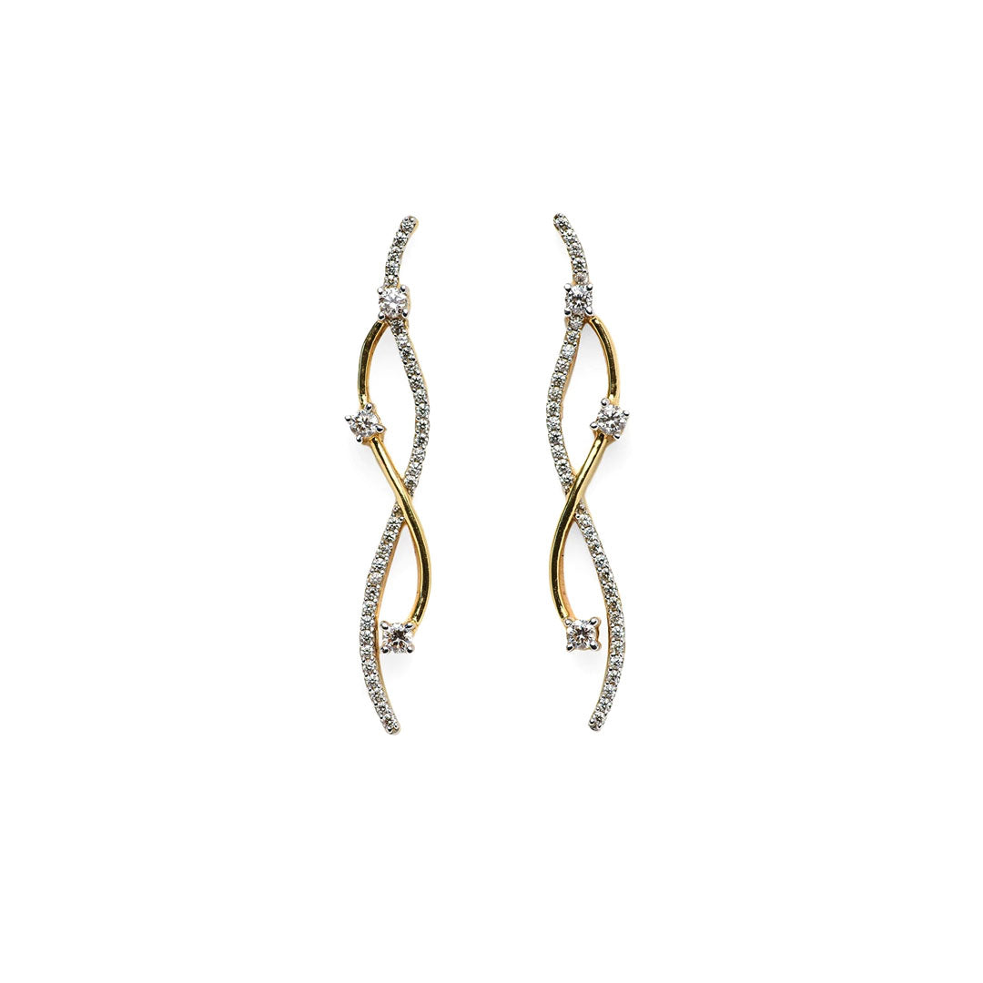 Ila Twisted Diamond Dangle Earrings