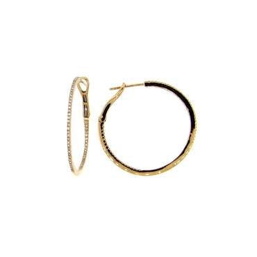 Large Inside/Outside Diamond Hoops