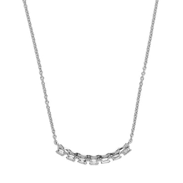 Baguettes Diamond Bar Necklace