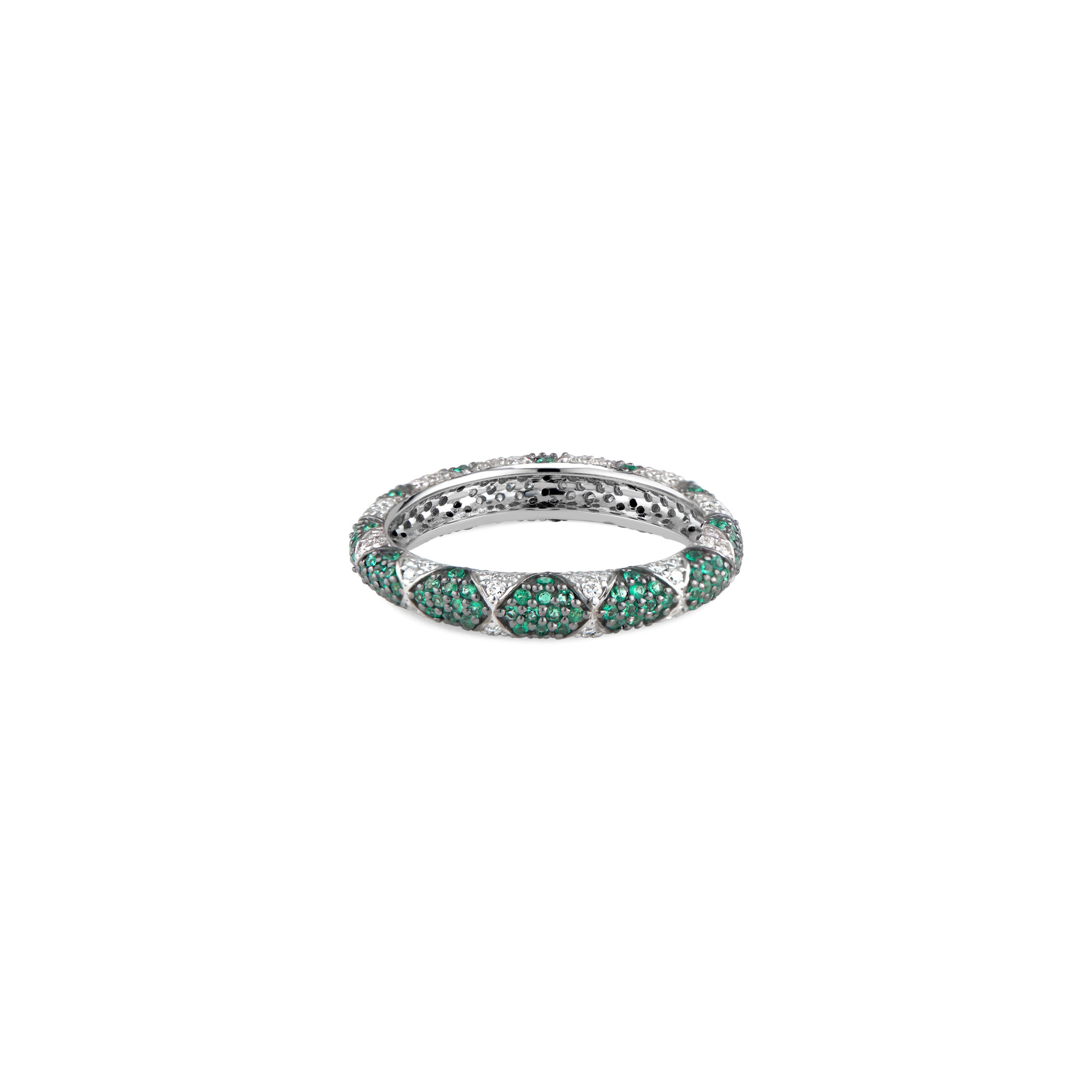 Lotus Emerald Eternity Band