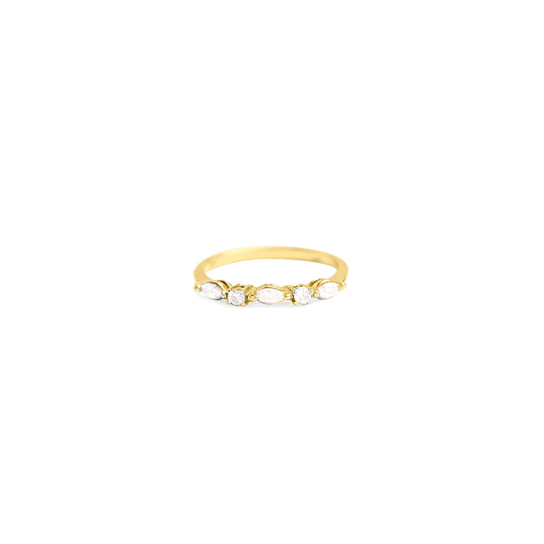 Oval Diamond Stack Ring
