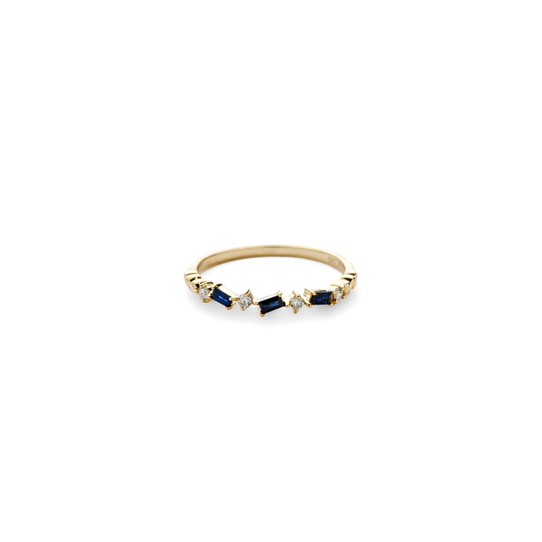 Gaia Blue Sapphire Stack Ring