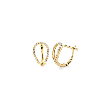 Loop Diamond Huggie Earrings