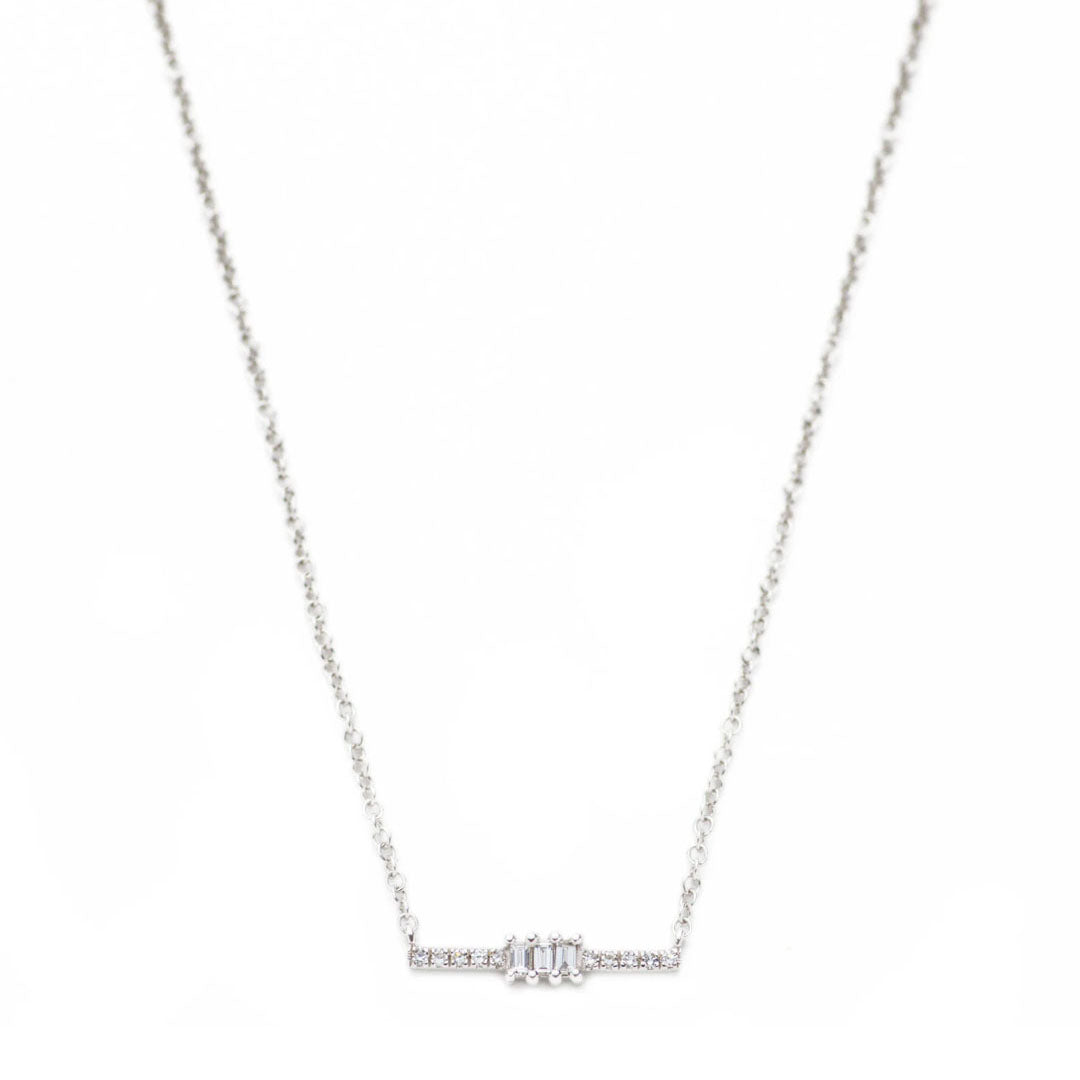 Ari Center Baguette Bar Necklace