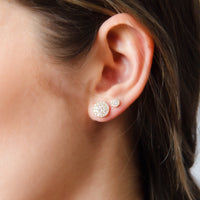 Button Drop Diamond Studs