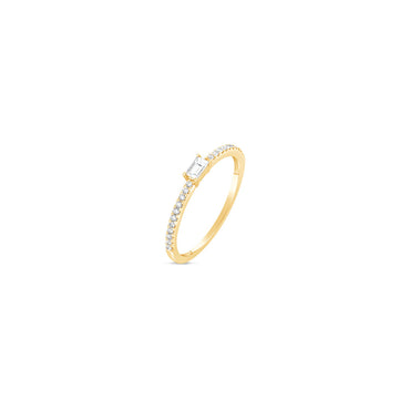 Oblong Diamond Baguette Ring