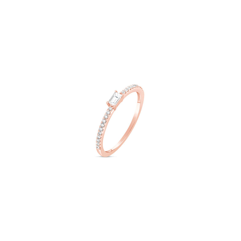 Emma Diamond Baguette Ring
