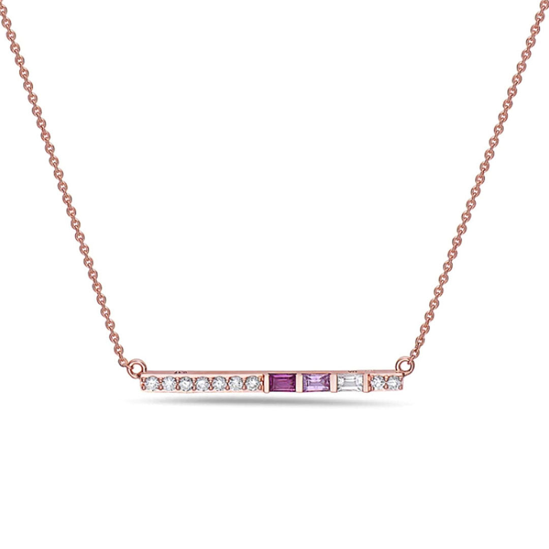 Ari Tri Stone Bar Necklace