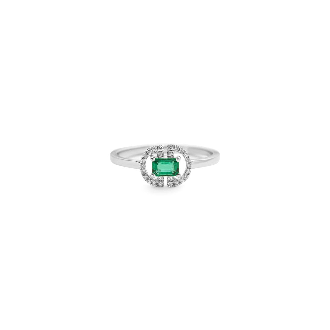 Emma Empress Emerald Ring
