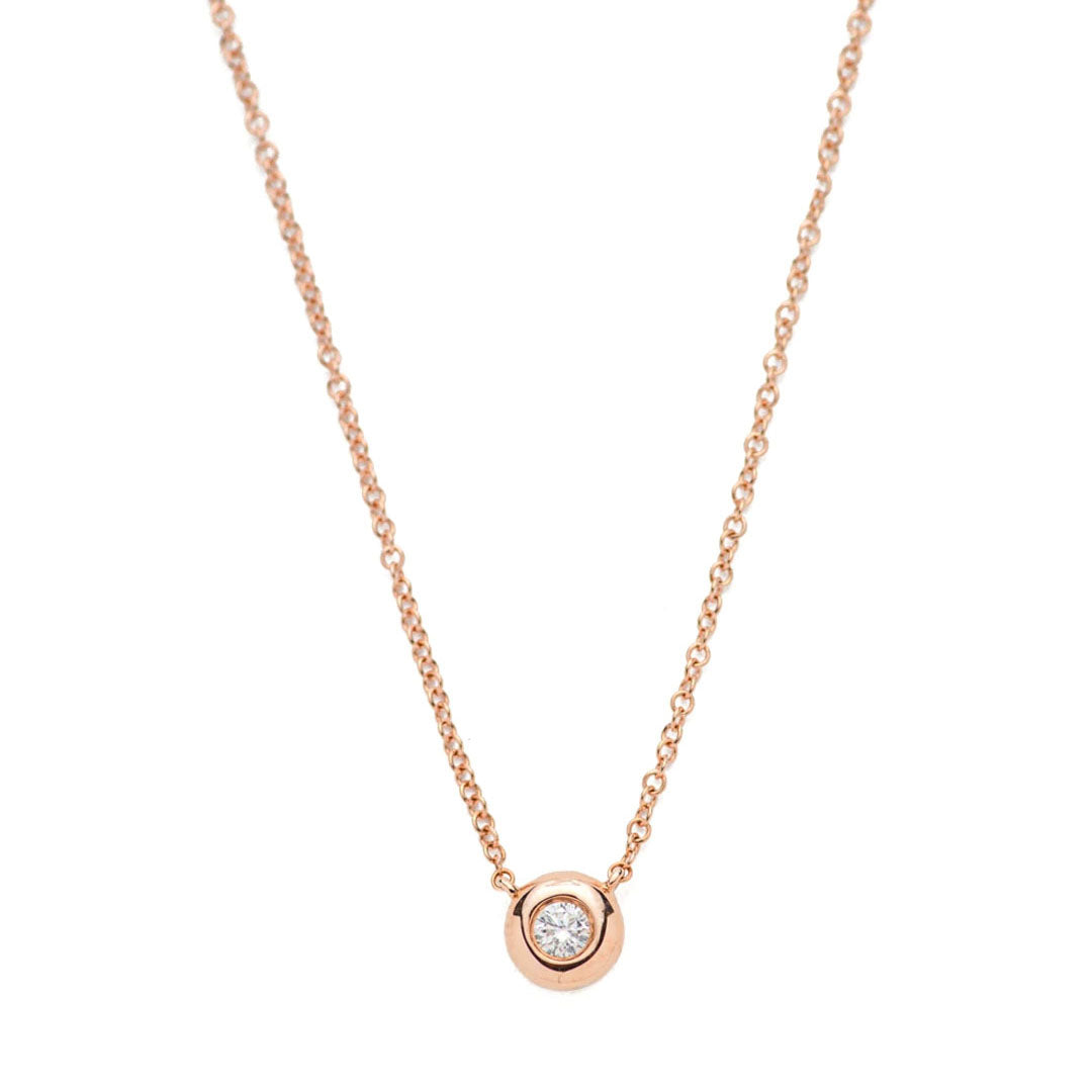 Round Diamond Dot Necklace