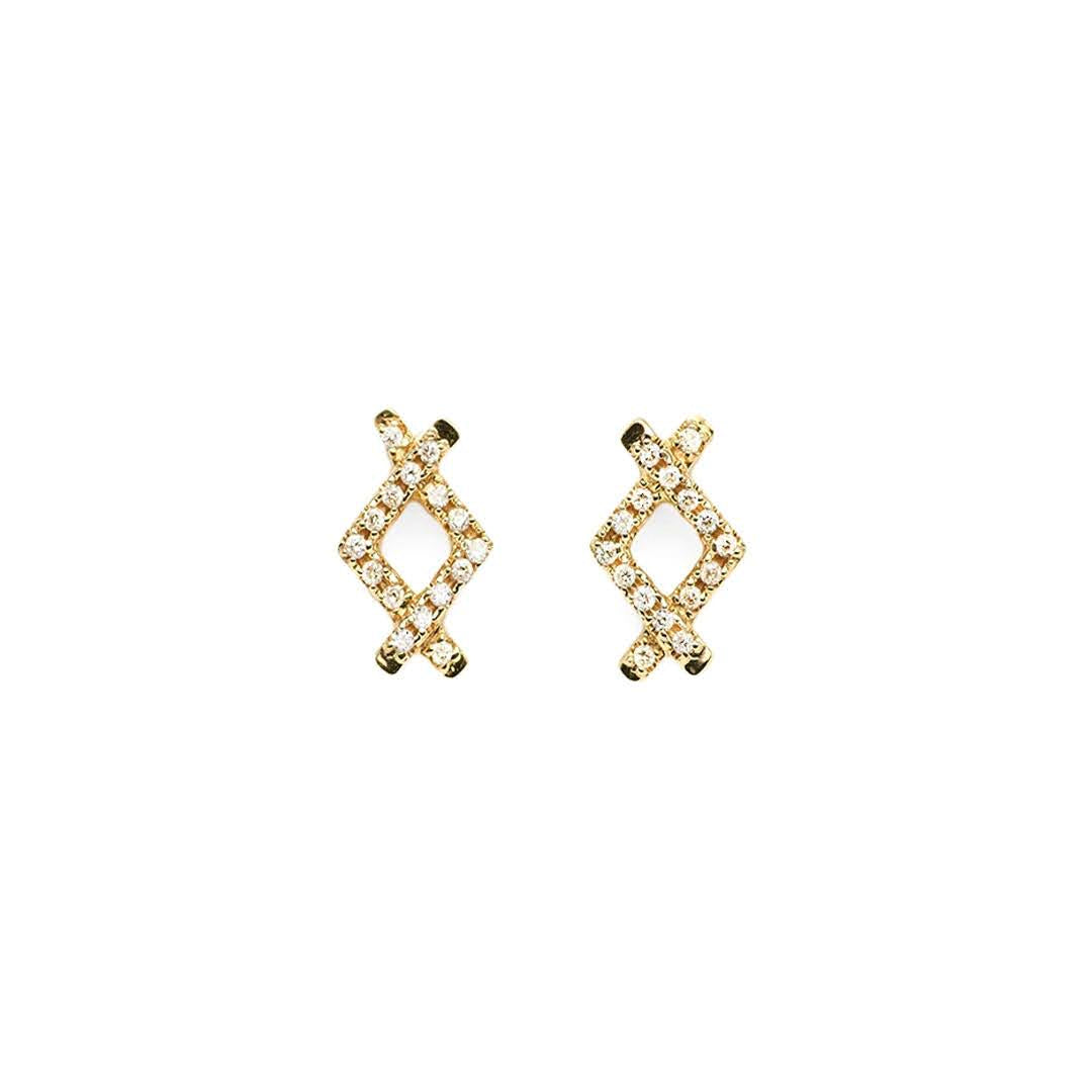 Crisscross Diamond Studs