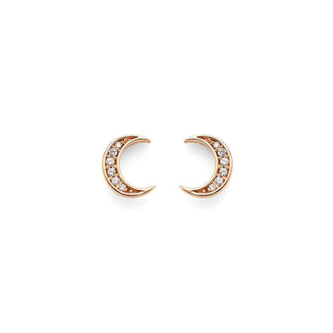 Mini Moon Diamond Studs