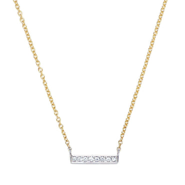 Maya Mixed-Metals Bar Necklace