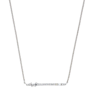 Baguette Diamond Line Necklace