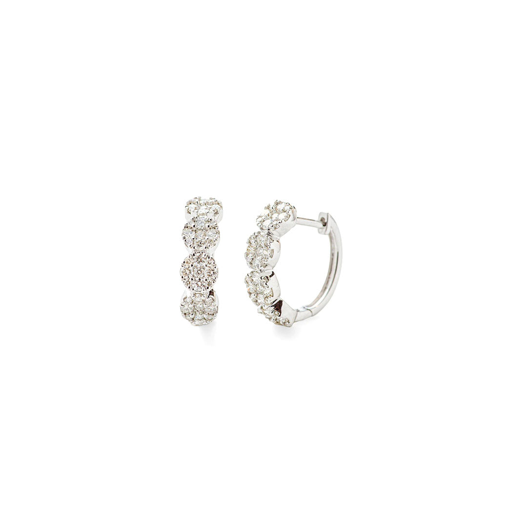 Four Button Diamond Earrings