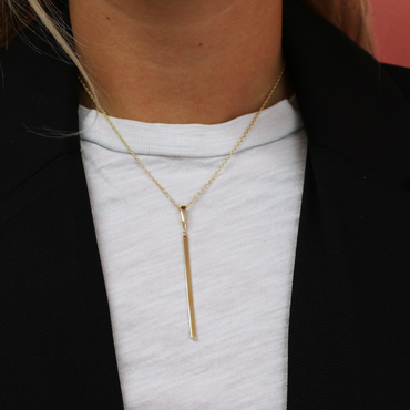 Vertical Gold Bar Necklace