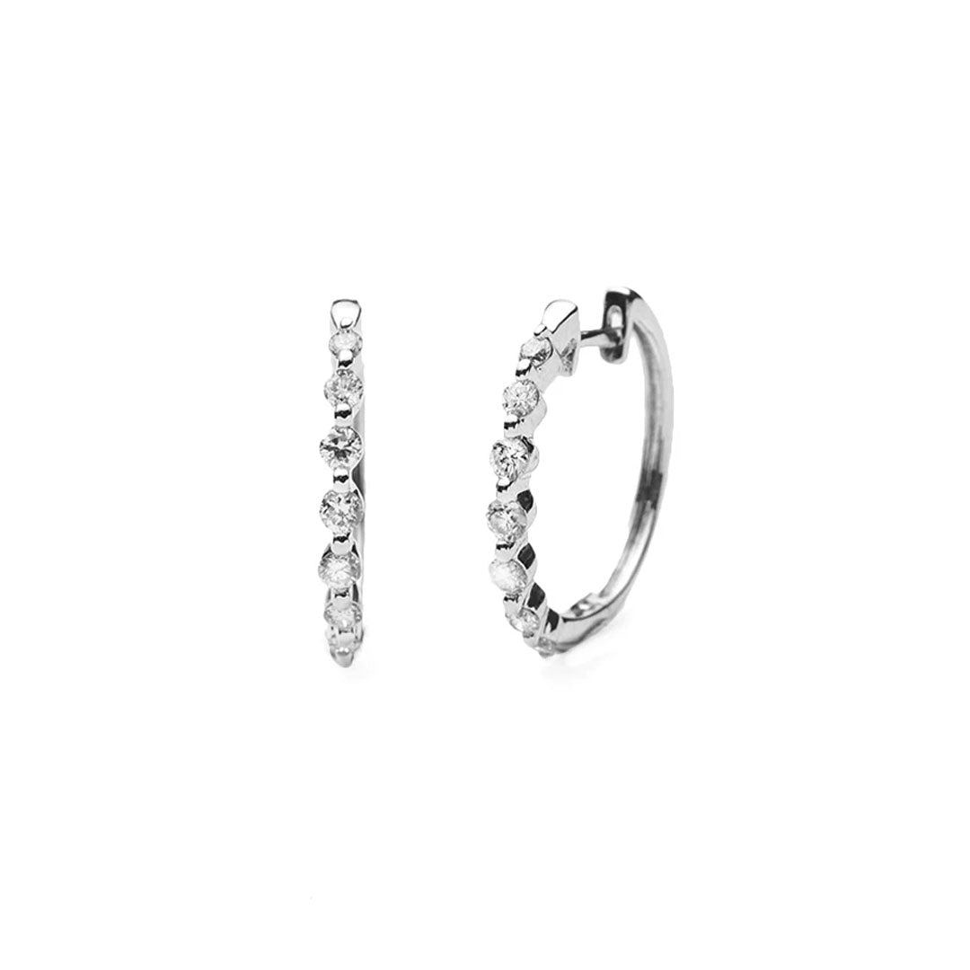 Dot Diamond Hoop Earrings