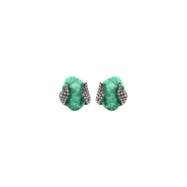 Jana Emerald Stud Earrings