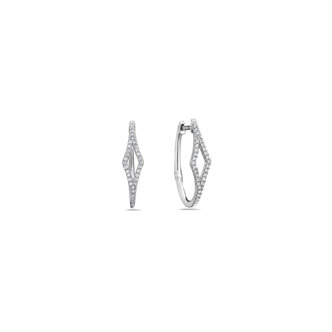 Open Rhombus Diamond Hoops
