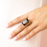 Smoky Topaz Cocktail Ring by Victoria Six
