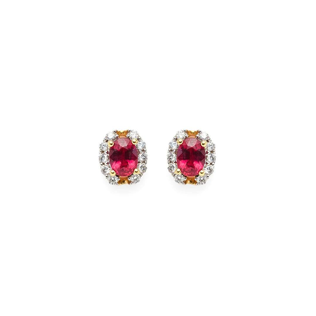 Codelia Ruby Stud Earrings