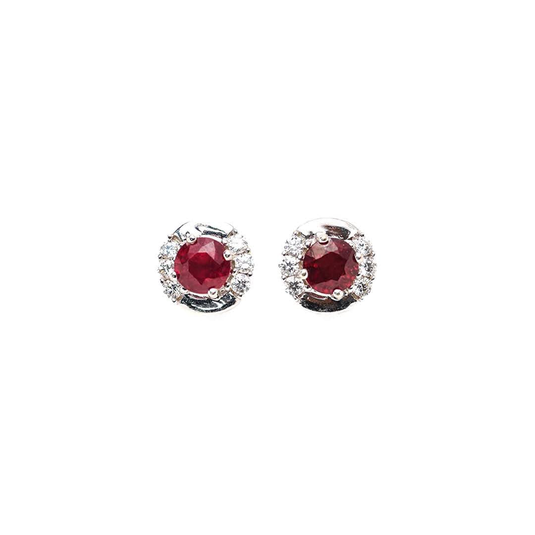 Hope Ruby Stud Earrings