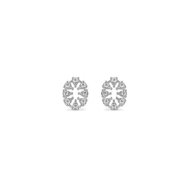 Reve Oval Diamond Earrings Small
