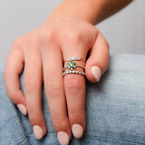 Small Emerald Flower Ring