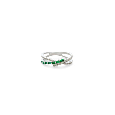 Kris Emerald & Diamond Ring