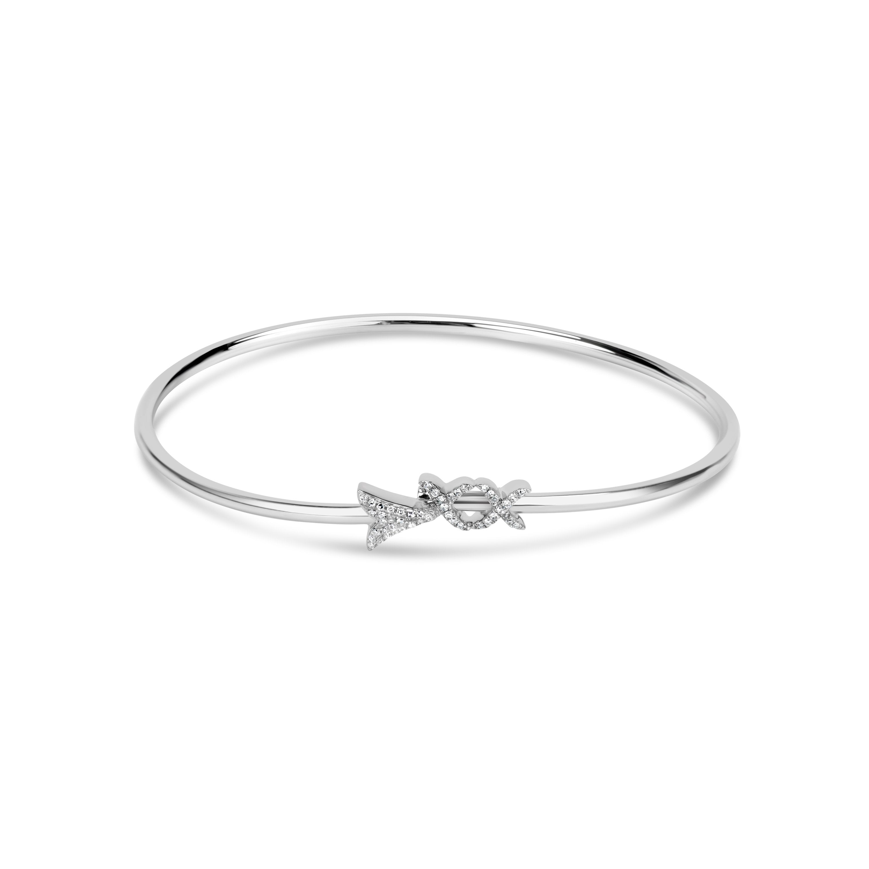Arley Diamond Arrow Bangle Bracelet