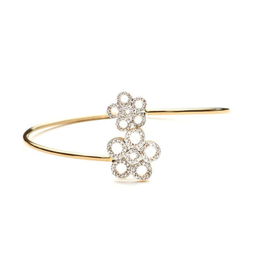 Open Flower Diamond Bangle