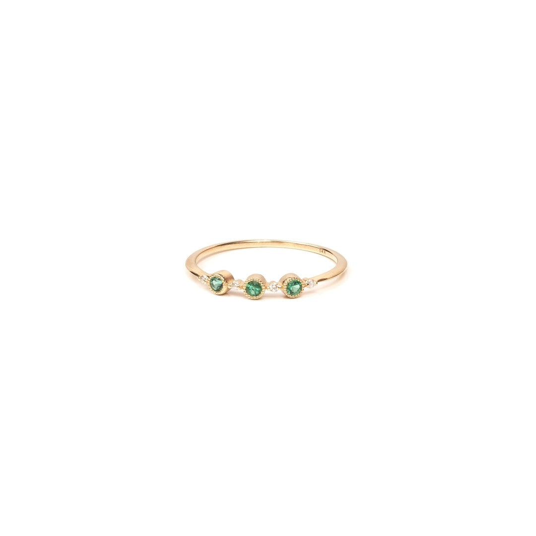 Ellipsis Emerald Ring