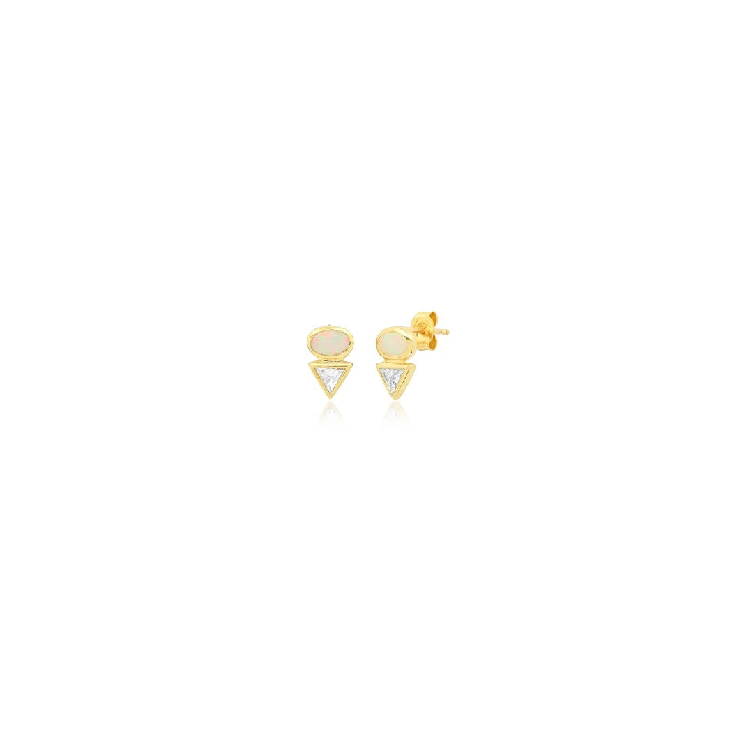 Eos III Opal & Diamond Earrings