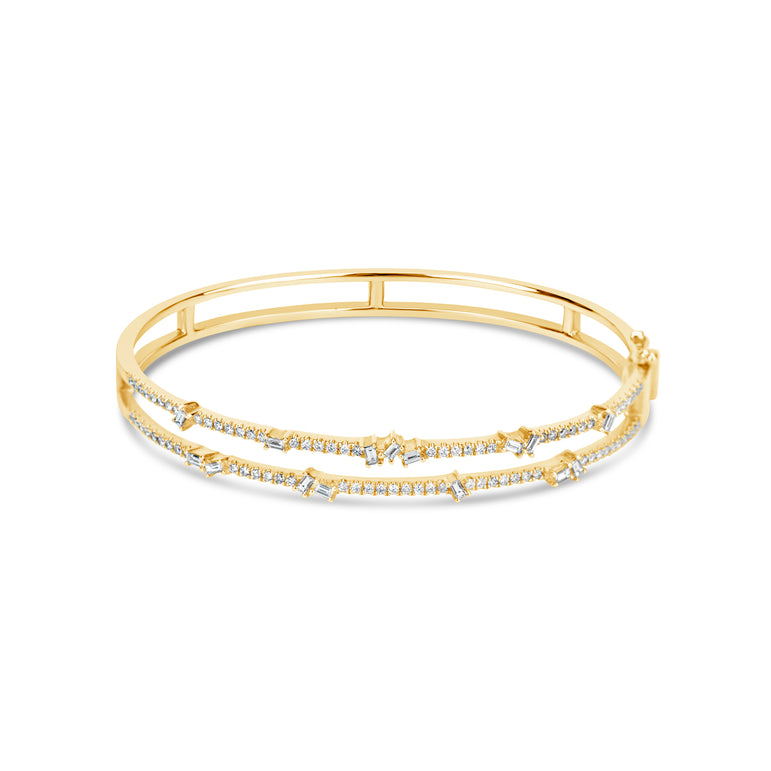 Diamond Double Row Bangle