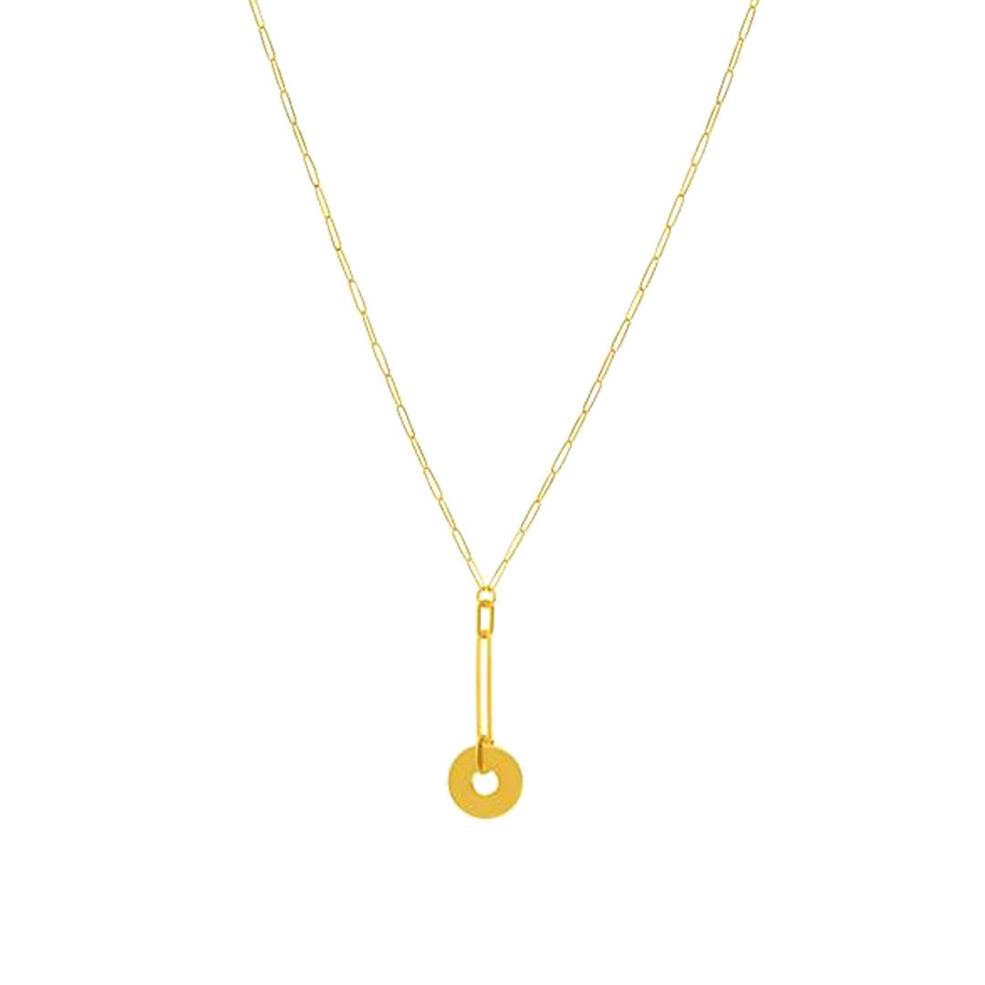 Gracie Gold Disc Lariat Necklace
