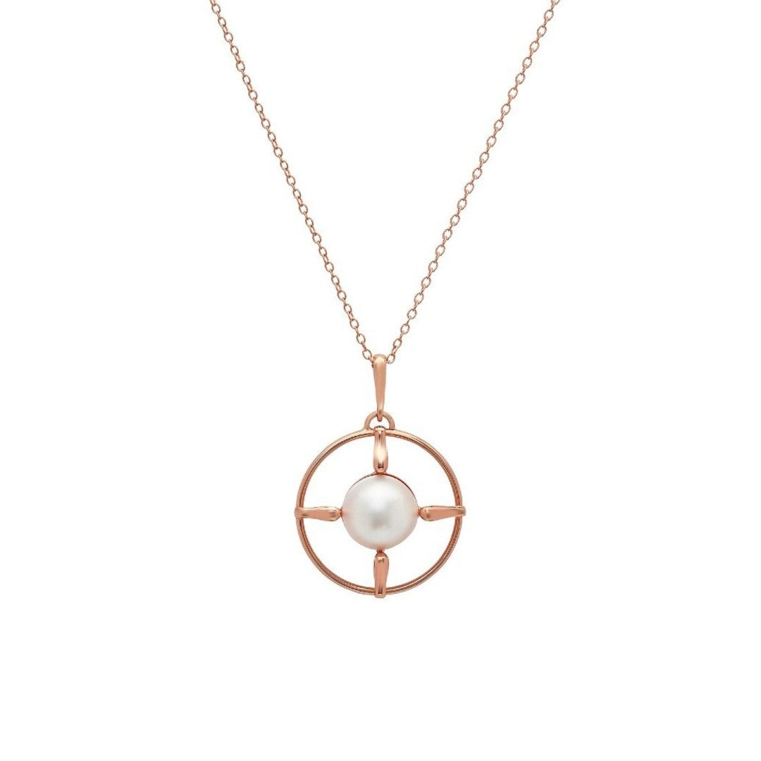 Large Compass Pendant Necklace