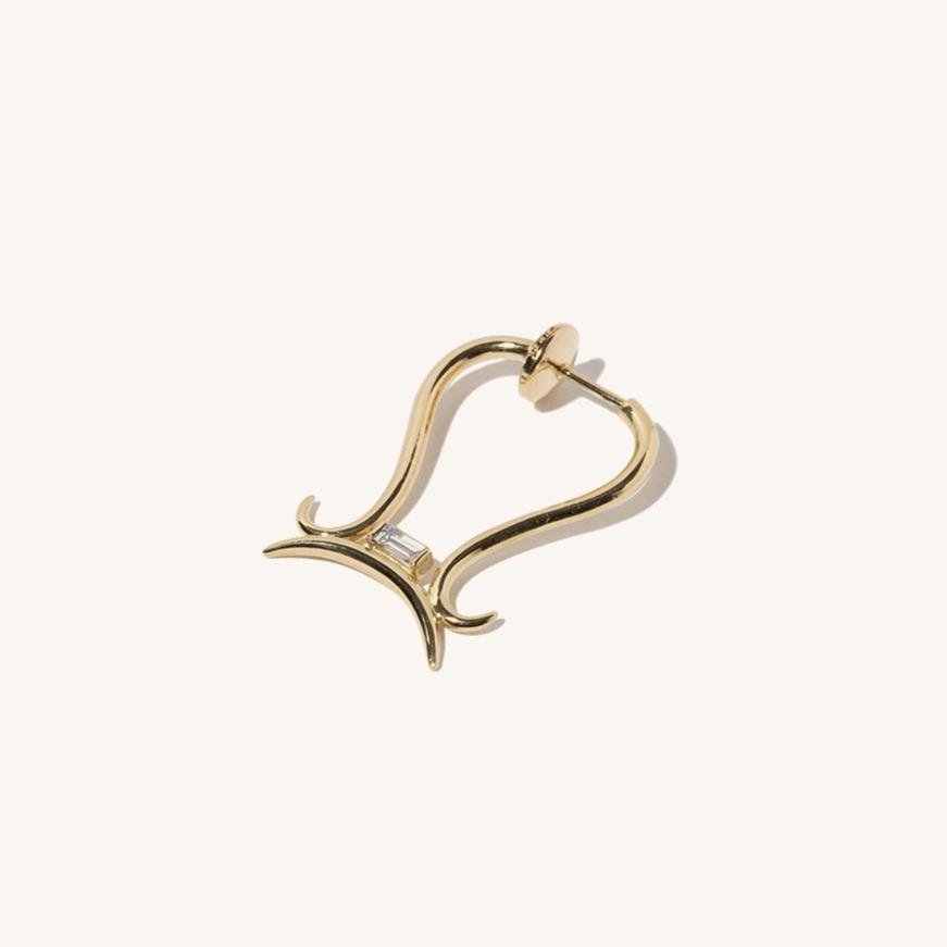 Libra Diamond Zodiac Earring