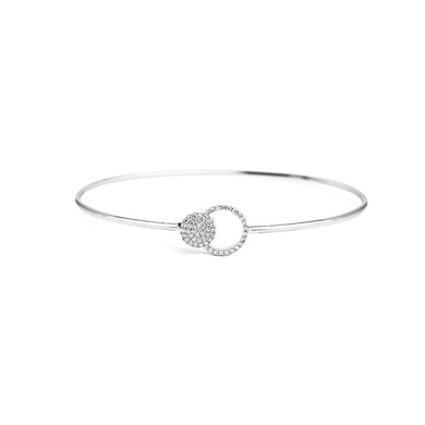 Open Circle Diamond Bracelet