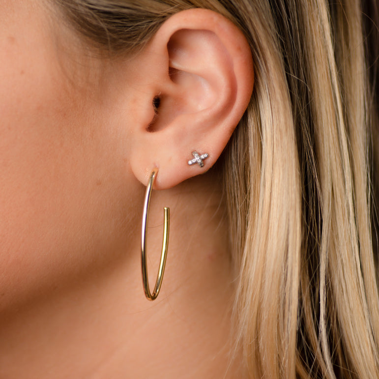 Lola Gold Elongated Hoops