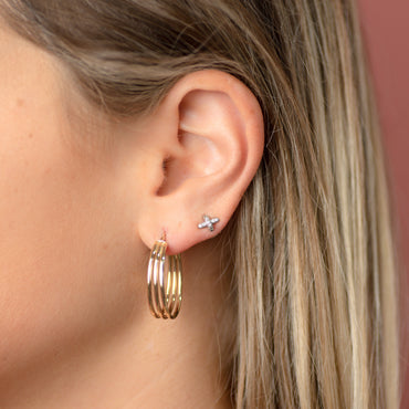 Terri Gold Hoop Earrings