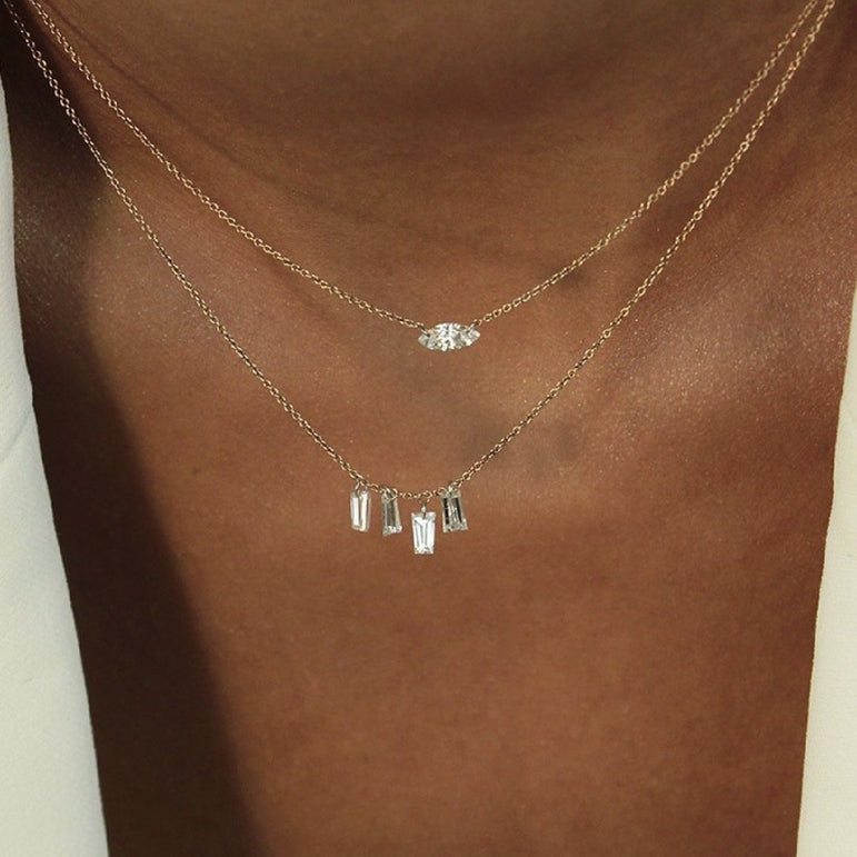 Marquise Station Necklace - Small