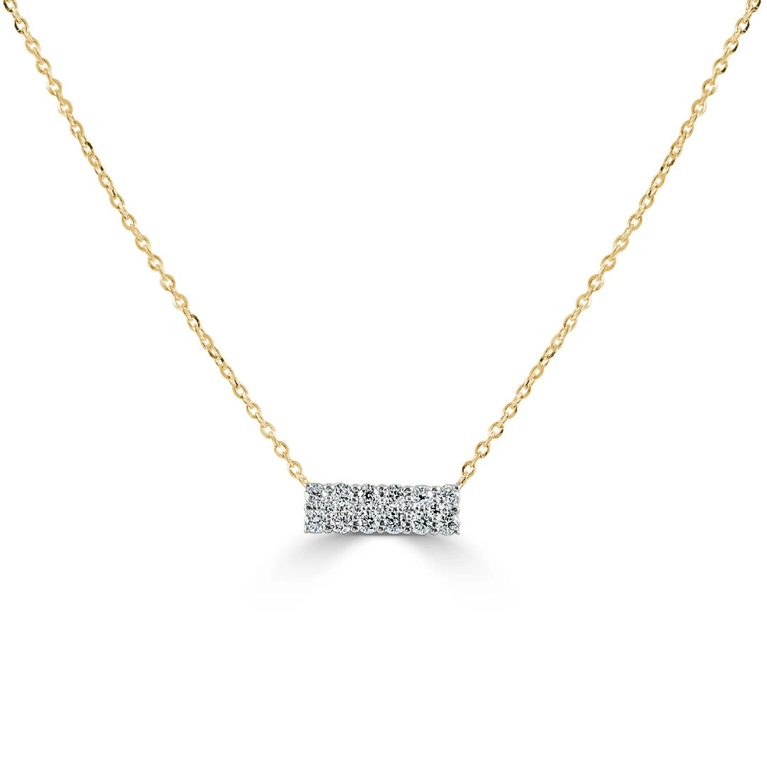 Maya Diamond Bar Necklace